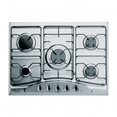 plaque whirlpool 5 feux inox